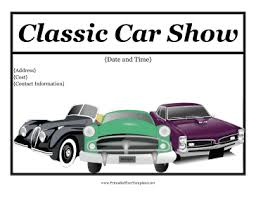 Car Show Flyer Template Printable