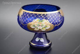 Конфетница из богемского стекла 15 см в Москве   купить по ...