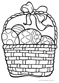 Small Picture Easter egg basket Coloring pages for kids Holiday Seasonal