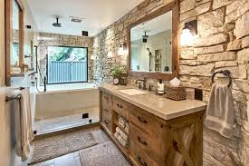 Modern Master Retreat With Old World Flair rustic-bathroom