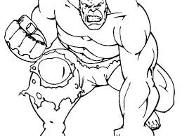 Coloring Page Hulk Incredible Hulk Coloring Pages Printable Pages