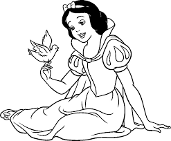 Disney Snow White Coloring Pages To Print Draw Background Disney