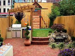 image of small backyard ideas outdoor kitchen design