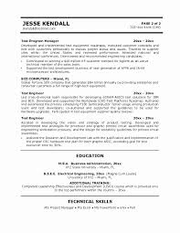 Manufacturing Test Engineer Sample Resume