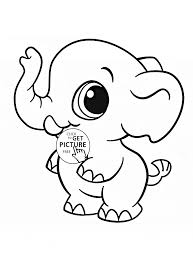 Little Elephant Coloring Page For Kids Animal Coloring Pages