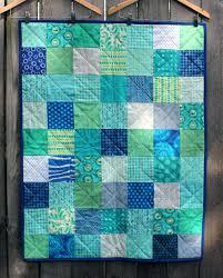 simple patchwork quilt | WOMBAT QUILTS & simple blue aqua baby quilt Adamdwight.com