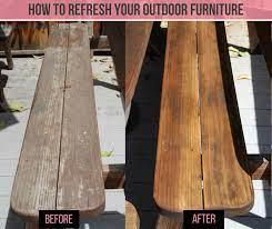 wood furniture with teak oil