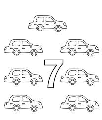 Small Picture Learn Number 7 with Seven Bats Coloring Page Learn Number 7 with