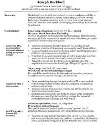 Marketing Resume Sample Musiccityspiritsandcocktail Com