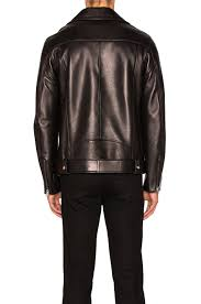 image 5 of acne studios nate clean leather jacket in black