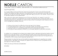 Cover Letter For Computer Teacher Ameliasdesalto Com