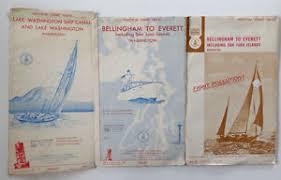 Nautical Charts San Juan Islands Wa Vtg Nautical Maps Charts Bellingham Everett And Lake