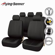 flying banner 11 pcs pu leather car seat cover universal car accessories auto full seat cover set