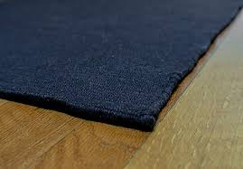 solid navy blue flatweave eco cotton rug 1 290