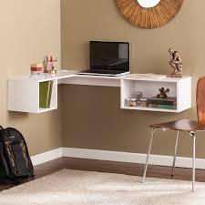corner desk home. Fynn Wall Mount Corner Desk - White Home O