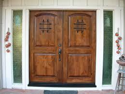 Double Swing Doors Marvelous Double Swing Front Rustic Doors Added Carving Wooden Top
