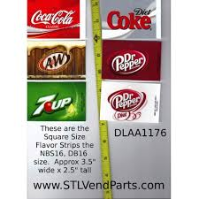 Coke Zero Vending Machine Stunning MEDIUM SQUARE Size Soda Vending Machine Flavor Strip Coca Cola Zero LOGO