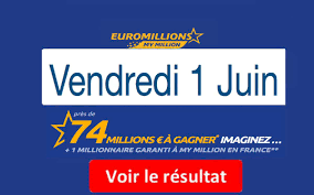 View all 2021 euromillions results and winning numbers, including winners and prize breakdown information. Resultat Euromillions My Million Fdj Du Vendredi 01 Juin 2018 En Ligne