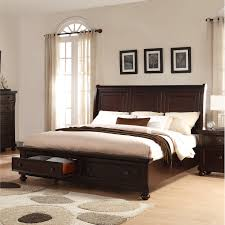 Shop Brishland Rustic Cherry King-size Storage Bed - Free Shipping ...