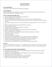 Good Resume Summary For Warehouse Worker Good Resume For Warehouse