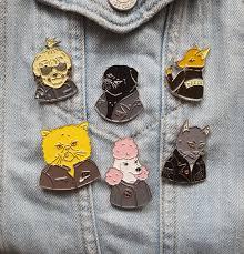 Alley <b>Cat enamel pin</b> // Bad <b>Dog</b> Biter Gang — These Things