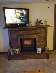 pallet faux fireplace diy jpg 735 956 pixels for the home pallet fireplace tv stands and pallets