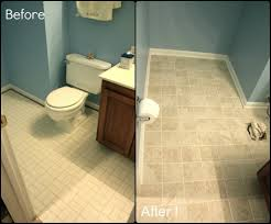 painting bathroom floor tile before and after