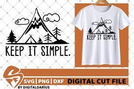 › mountains & moon landscape svg file. Keep It Simple Svg Mountain Svg Camping Svg Travel Svg 562414 Cut Files Design Bundles