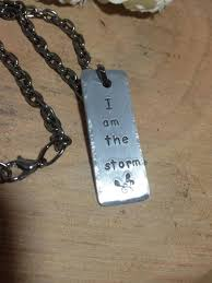 i am the storm inspirational e necklace handsted