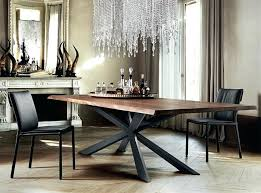 dining table with metal base wood rectangular dining table with a wooden top and metal base