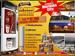 Vending Machine Franchise Philippines Adorable Chong Cafe Coffee Vendo Business Package Manila Chong Cafe Vendo