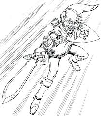 Legend Of Zelda Ocarina Of Time Coloring Pages Link Coloring Pages