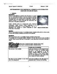 Chemistry Lab Report. Aim: To Calculate The Number Of Molecules Of ...