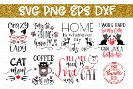 Free online image to vector tool png to svg, jpg to svg, and more. Free Cats Bundle Svg Cut File Cat Lover Gift Svg Eps Png Dxf Crafter File