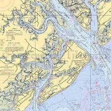 Tide Chart Hilton Head Island South Carolina Bluffton Hilton Head Nautical Chart