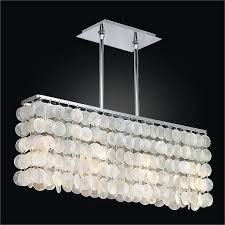 rectangular capiz shell chandelier surfside 637cm4lsp