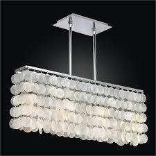 rectangular capiz shell chandelier surfside 637cm4lsp