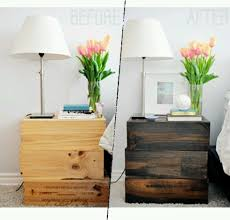 chic small nightstand table diy crate nightstand crafthubs