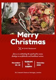 christmas dinner poster online christmas dinner poster template fotor design maker