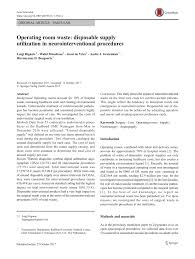 pdf operating room waste disposable supply utilization in neurosurgical procedures