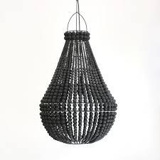 contrast beaded chandelier black black beaded chandelier c68