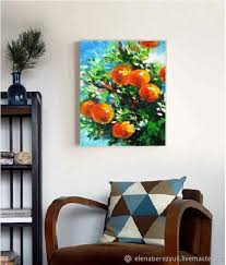 paintings for dining room walls. Delighful Dining Orange Painting Kitchen Wall Art Dining Room Decor Tree Artwork And Paintings For Room Walls A