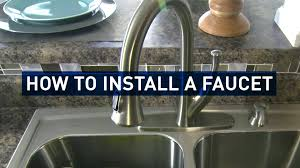 Installing A Kitchen Faucet How To Replace A Kitchen Faucet Youtube