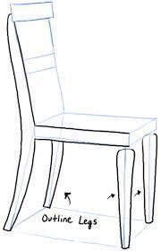 Chair Drawing Easy Step06 chair Chair Drawing Easy D Nongzico