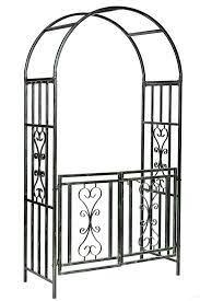 winchester garden metal arch with gates