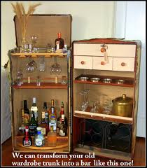 Steamer Trunk Furniture A Randall Barbera Design A Wardrobe Trunk Converted Into A Bar
