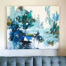 sitting on the ocean floor 45 x55 abstract painting by carlos ramirez