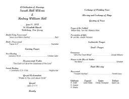 Free Printable Wedding Ceremony Programs Bulletins For Wedding Ceremony Free Printable Wedding Program
