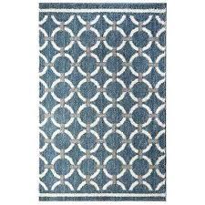 blue geometric area rug linked circles blue 5 ft x 8 ft area rug sawyer geometric