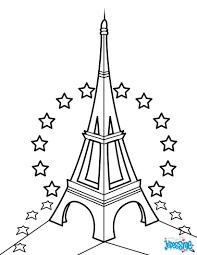 Coloriages Tour Eiffel Et Toiles De L Ue Fr Hellokids Com